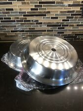 """4 Stainless Steel Catering Food Plate Cover 11 1/2"""" diameter Restaurant Safety"""