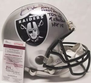 TIM BROWN Signed Autographed OAKLAND RAIDERS FS Custom HELMET 5 INS. WITNESS JSA