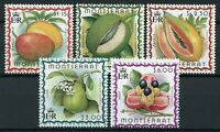 Montserrat Stamps 1999 MNH Tropical Caribbean Fruits Mango Lime Akee 5v Set