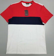 NEW Ben Sherman MEDIUM Blue Red White Striped Cotton T-Shirt BSBO2102 $59.95