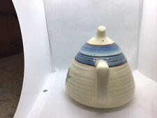 Clarice Cliff Blue Lynton  Teapot, STUNNING