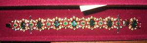 Camrose & Kross Jacqueline Jackie Kennedy Emerald Wreath Bracelet Box/Papars