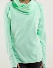 LULULEMON HEALTHY HEART FRESH TEAL PULLOVER BUTTERY SOFT SZ 12 HARD TO FIND