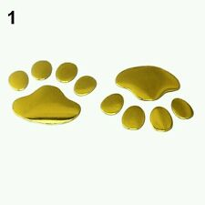 PARAURTI/corpo 3d PVC Decalcomania Adesivi Animale Cucciolo Paw Prints GOLD