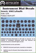 Airscale 1/24 WWII Luftwaffe Instrument Dials decal 2403 N