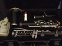 Classic Lemaire Paris France Wooden Black Clarinet with case