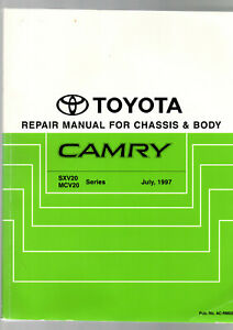 TOYOTA CAMRY REPAIR MANUAL FOR CHASSIS & BODY 1997 : FACTORY EDITION  scarce