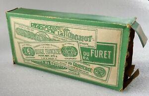 boîte de 10 bougeoirs  du furet  - vers 1900 - savonnerie roussille