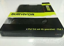 Griffin Survivor iPad 3rd & 4th Generation & iPad 2 Black Military Case GB35108