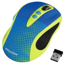 Gaming Mouse inalámbrico 2.0 Color desplazamiento óptico de 2400 DPI para PC Laptop, Amarillo
