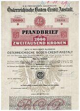 ...Österreichische Boden-Credit-Anstalt, Wien 1910, 2000 Kronen