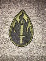 US Army 63rd ID/RSC Green & black BDU uniform patch