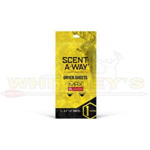 HS/Hunters Specialties Odor Scent-A-Way Control Max Dryer Sheets-#07707