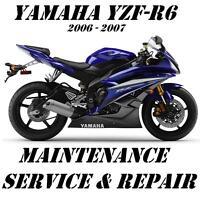 2006 2007 Yamaha YZF-R6 R6 YZFR600 Service Repair Manual Maintenance Tune-Up