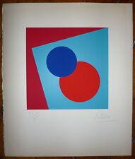 Olivieri L Lithographie signée 1970 Art Abstrait Abstraction géométrique
