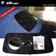 Lunette arrière BMW E36 Cab FUMÉE NOIRE fermeture éclair envoi gratuit