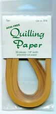 "Lake City Quilling Paper ONE PK 1/8"" wd 50 pcs TAN  #314"