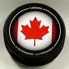 JAY BOUWMEESTER ALEX PIETRANGELO CANADA FLAG OLYMPIC LTD ED 1/200 PUCK! US00454