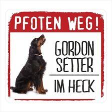 Auto Aufkleber REFLECTIVE GORDON SETTER PFOTEN WEG Hunde BY SIVIWONDER