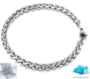 Cable Arm Band Stainless Solid 0 1/8-0 1/4in Men's Women's Bracelet 5 29/32-9