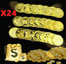 24PCS Plastic Pirate Gold Play Toys Coins Birthday Party Favors Play Money Coins