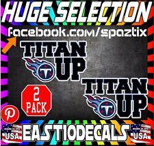 TENNESSEE TITANS titan up  vinyl decal sticker nashville