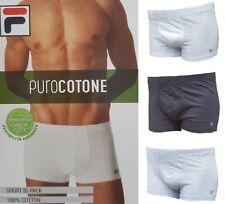 Boxer Uomo 2 pezzi bipack puro Cotone 100% elastico interno FILA F05XN Intimo