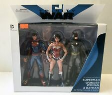 "DC Direct Trinity War Superman Batman Wonder Woman 3-Pack 6"" Figures NEW & MISB"