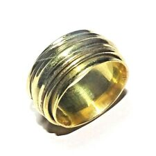 925 Solid Brass Meditation Spinner Ring Stetement Ring Jewelry Size 10.25 US SP7