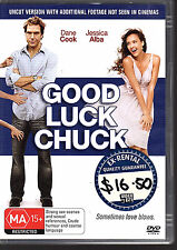 GOOD LUCK CHUCK - DVD R4 Dane Cook  Jessica Alba - Ex Rental - GOOD - FREE POST