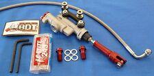 HONDA ATC 250R ATC250R OEM REAR BRAKE MASTER CYLINDER SYSTEM NEW BDT RED KIT