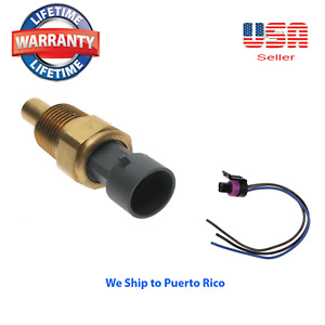 New Engine Coolant Temperature Sensor + CONNECTOR For 1991-2002 Buick Olds GMC