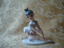 Vintage Collectible J.L. CO. Japan Ballerina Figurine Bisque Porcelain Pink