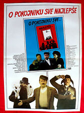 ONLY BEST WORDS ABOUT A DEAD MAN 1984 TODOROVIC ZIVKOVIC KRALJ EXYU MOVIE POSTER