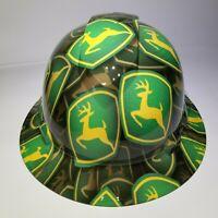 NEW FULL BRIM Hard Hat custom hydro dipped in JOHN DEERE tractor deere green