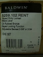 BALDWIN 5259.102.RENT ~ Right Handed Keyed Entry Lock Set - Oil Rubbed Bronze