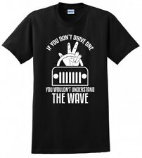 THE WAVE 4X4 OFF ROAD JEEP TRAIL CAMPING MENS FUNNY T-SHIRT
