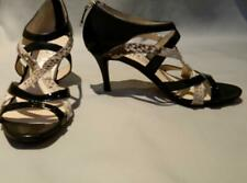 Michael Kors Cage Sandals Snake Leather Strappy Heels 5 1/2