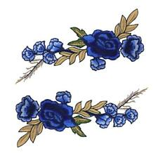 2Pcs Embroidery Rose Flower Sew On Patchs Badge Dress Jean Bag Appliques DIY New