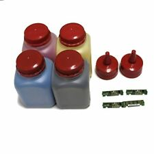 4 color Toner refill kit w Chips for Samsung CLT-406 CLP-365 CLP-365W CLX-3305W