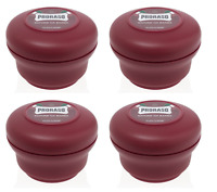Proraso Shaving Soap in a Bowl, Moisturizing and Nourishing, 5.2 oz (4 Pack)