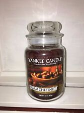 Yankee Candle 22oz 623g Large Jar Warm Chestnut Deerfield RARE HTF White Label