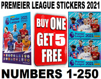 PANINI PREMIER LEAGUE STICKERS 2021 **SINGLE STICKERS**  #1-250 BUY 1 GET 5 FREE