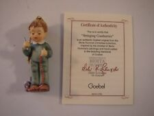 1997 Studio Goebel Berta Hummel Christmas Ornament Stringing Cranberries Vg