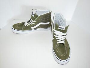 Vans Skate Hi High Top Skateboard Olive Green Shoes Mens Size 9.5