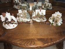 4 Lilliput Lane Cottages Snow Winter Christmas Deer Park Vicarage Yuletide St. N