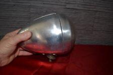 Superbe phare ancien moto ou auto en aluminium (A détourner en lampe ?)
