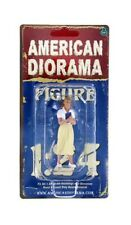 """50's LADY WOMAN FEMALE WHITE BEIGE VIII AMERICAN DIORAMA 1:24 GIRL 3"""" Figure"""