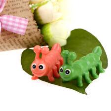 2pcs miniatura de resina de orugas de día de San Valentín micro paisSTG