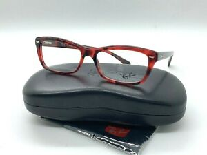 NEW RAY BAN EYEGLASSES RB 5255 5948 RED TORTOISE 53-16-135MM /CASE